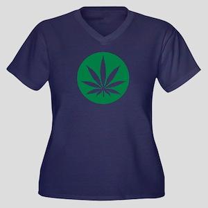 Marijuana Ca Women's Plus Size V-Neck Dark T-Shirt