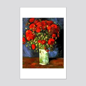 Vincent Van Gogh Vase With Red Poppies Poster Mini