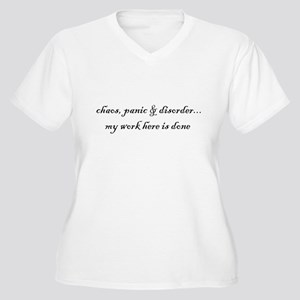 Chaos, panic & disorder... PlusSize Vneck Tshirt