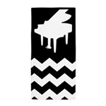 Piano Music Chevron Beach Towel