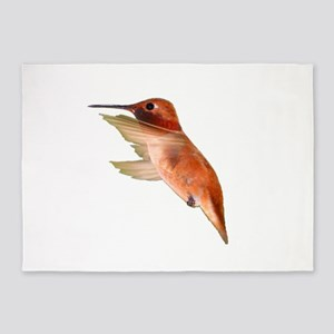 rufous hummingbird 5'x7'Area Rug