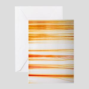 Dripping Orange Rust Greeting Cards