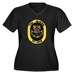 USS GLOVER Women's Plus Size V-Neck Dark T-Shirt