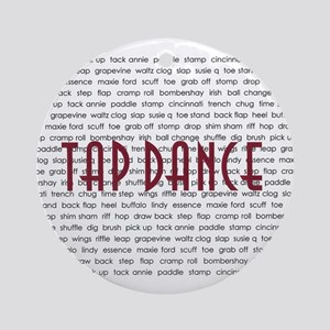Tap Dance Ornament (Round)