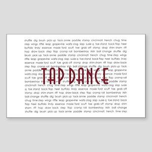 Tap Dance Rectangle Sticker