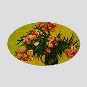 Van Gogh Vase With Oleanders And Books Wall Decal