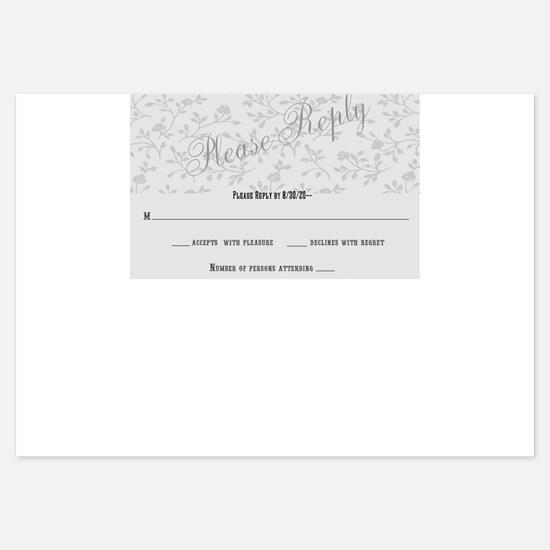 Gardens Above Wedding RSVP / Reply Cards Invitatio
