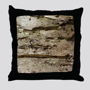 Weathered Wood Throw Pillow