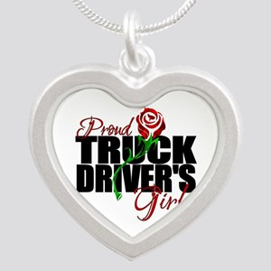 Be Proud - Truck Driver's Gi Silver Heart Necklace