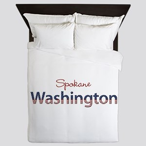 Custom Washington Queen Duvet