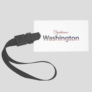 Custom Washington Large Luggage Tag