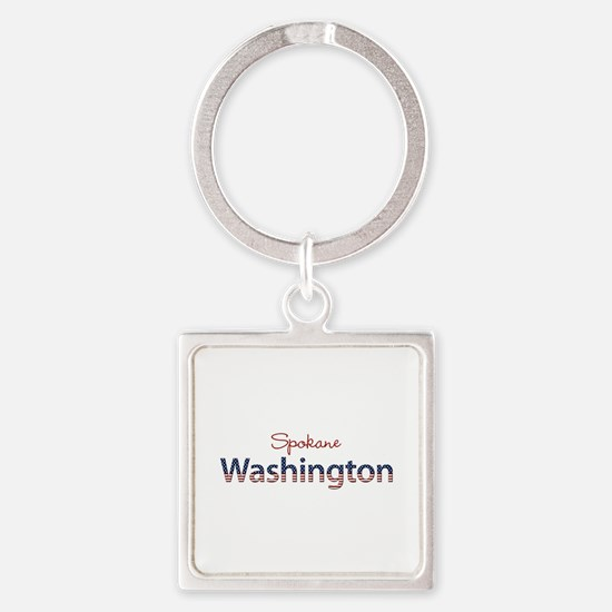 Custom Washington Square Keychain