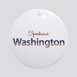 Custom Washington Ornament (Round)