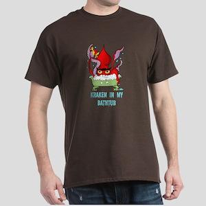 Bathtub Kraken Cartoon Dark T-Shirt
