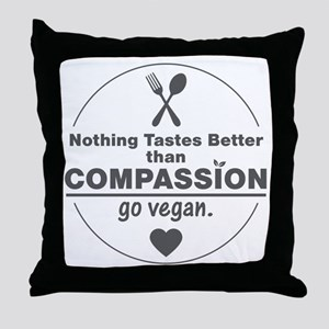 Vegan Nothing Tastes Better Than Comp Throw Pillow