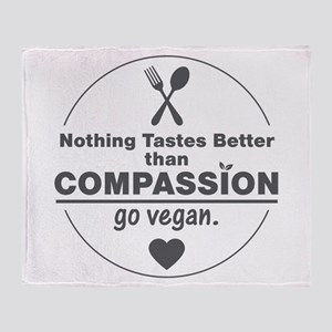 Vegan Nothing Tastes Better Than Com Throw Blanket