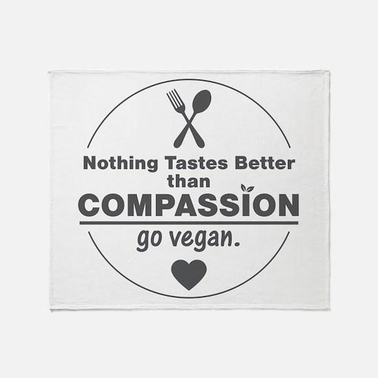 Vegan Nothing Tastes Better Than Com Throw Blanket