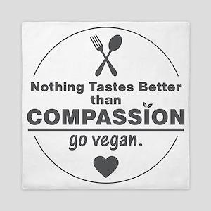 Vegan Nothing Tastes Better Than Compa Queen Duvet