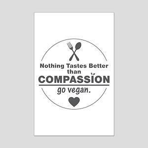 Vegan Nothing Tastes Better Than Mini Poster Print
