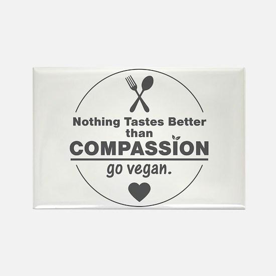 Vegan Nothing Tastes Better Than Rectangle Magnet