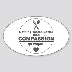 Vegan Nothing Tastes Better Than Co Sticker (Oval)
