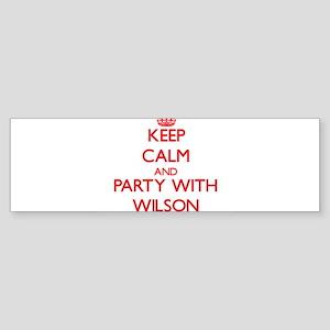 Wilson Bumper Sticker