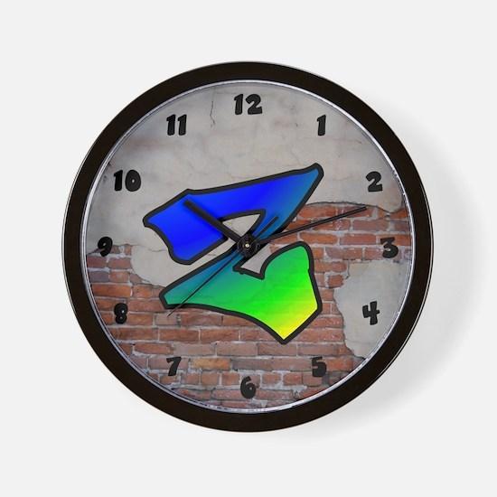 GRAFFITI #1 Z Wall Clock