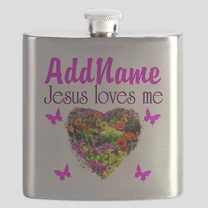 JESUS LOVES ME Flask
