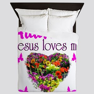JESUS LOVES ME Queen Duvet