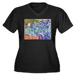 Van Gogh Blue Irises Plus Size T-Shirt