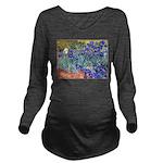 Van Gogh Blue Irises Long Sleeve Maternity T-Shirt