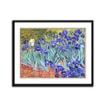 Van Gogh Blue Irises Framed Panel Print