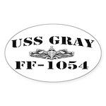 USS GRAY Sticker (Oval)