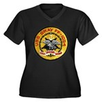 USS GRAY Women's Plus Size V-Neck Dark T-Shirt