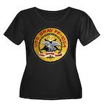 USS GRAY Women's Plus Size Scoop Neck Dark T-Shirt