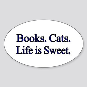 Books. Cats. Life is Sweet. Sticker
