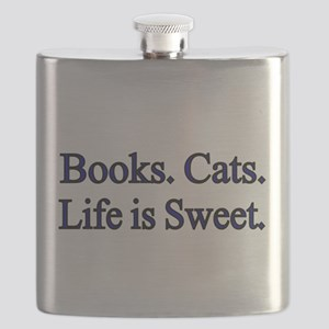 Books. Cats. Life is Sweet. Flask