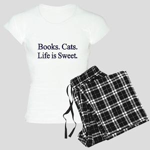 Books. Cats. Life is Sweet. Pajamas