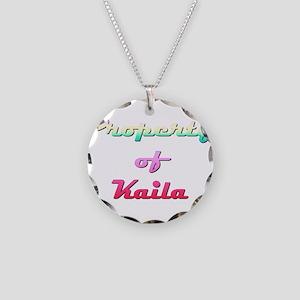 Property Of Kaila Female Necklace Circle Charm