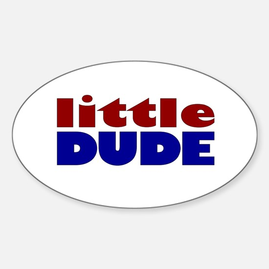 Little Dude Oval Decal