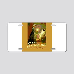 Florence Nightingale With Aluminum License Plate