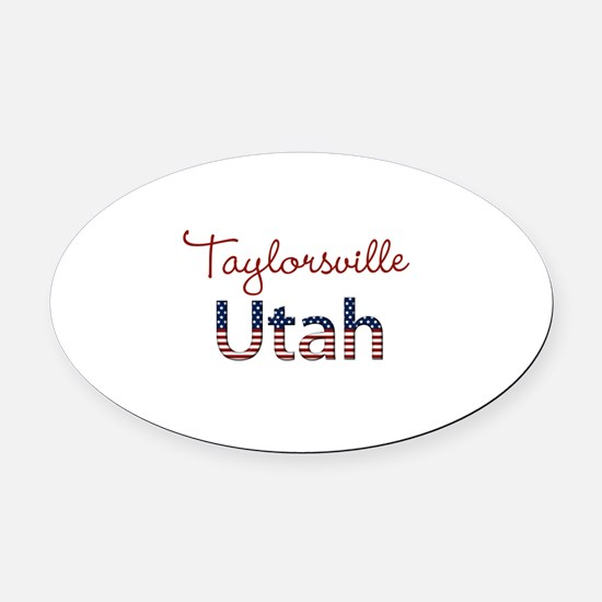 Custom Utah Oval Car Magnet