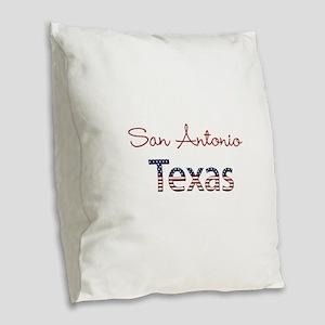 Custom Texas Burlap Throw Pillow
