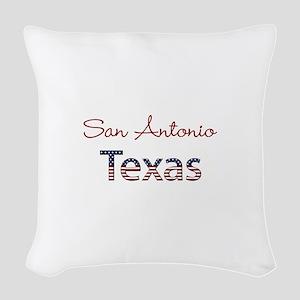 Custom Texas Woven Throw Pillow