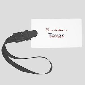 Custom Texas Large Luggage Tag