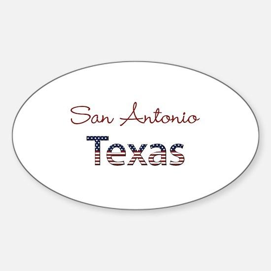 Custom Texas Sticker (Oval)