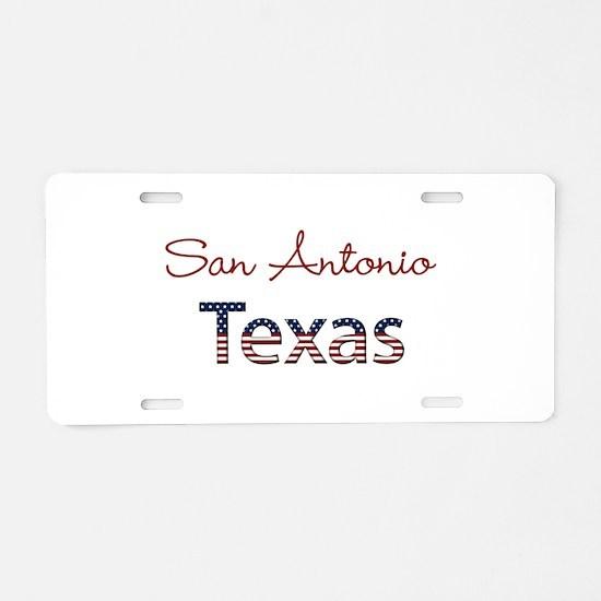 Custom Texas Aluminum License Plate