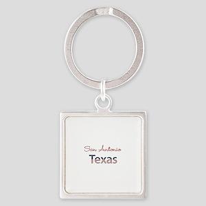 Custom Texas Square Keychain