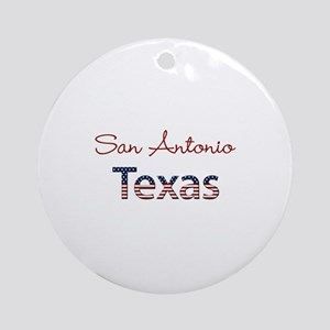 Custom Texas Ornament (Round)