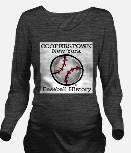 cooperstown001a.png Long Sleeve Maternity T-Shirt